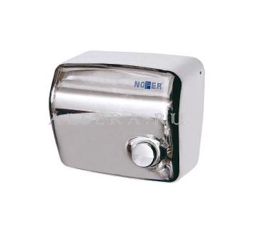 Сушилка для рук Nofer Kai с кнопкой сталь глянец