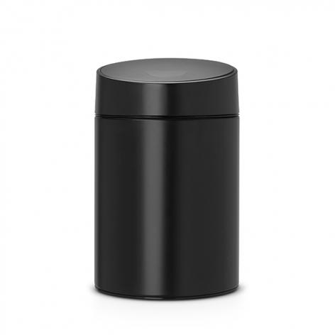 Ведро для мусора с крышкой Brabantia SLIDE 5л 483189 Black (черный)
